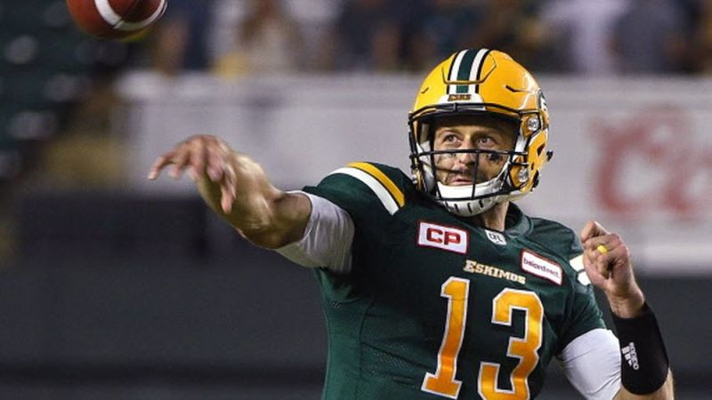 Racing away with it? the 2018 CFL MOP trophy has Mike Reilly's name on it…for now