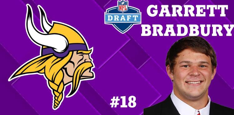 Minnesota Vikings Select Garrett Bradbury Eighteenth Overall