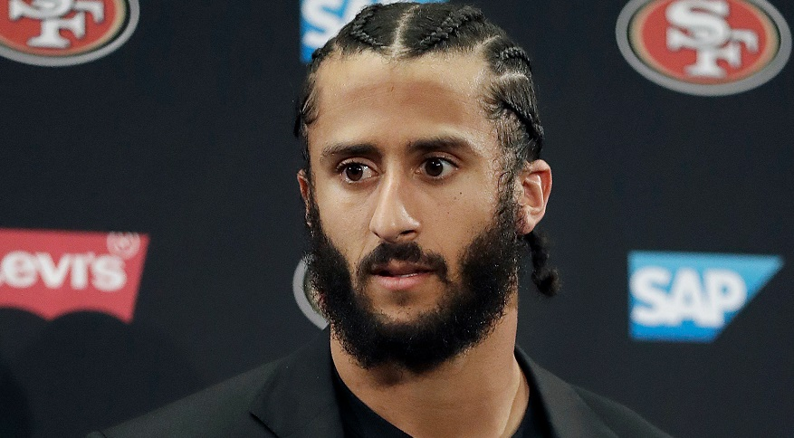 Colin Kapernick at a 49ers press conference