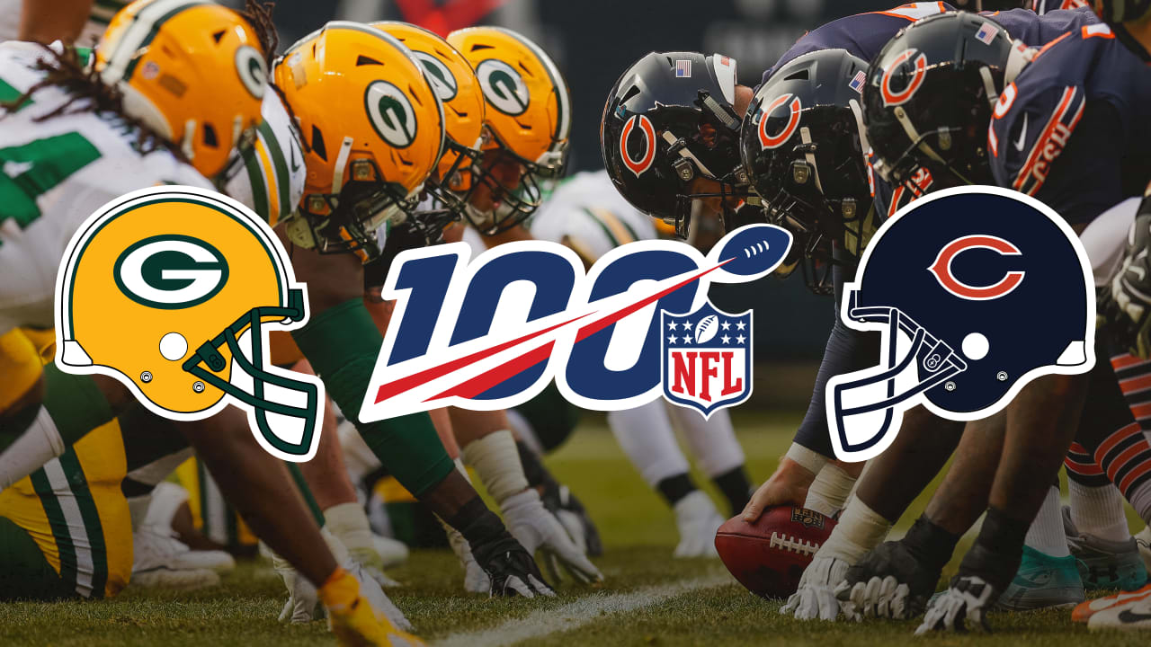 First game of the season – Green Bay Packers at Chicago Bears
