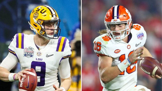 Joe Burrow goes up against Trevor Lawrence in the National championship game.