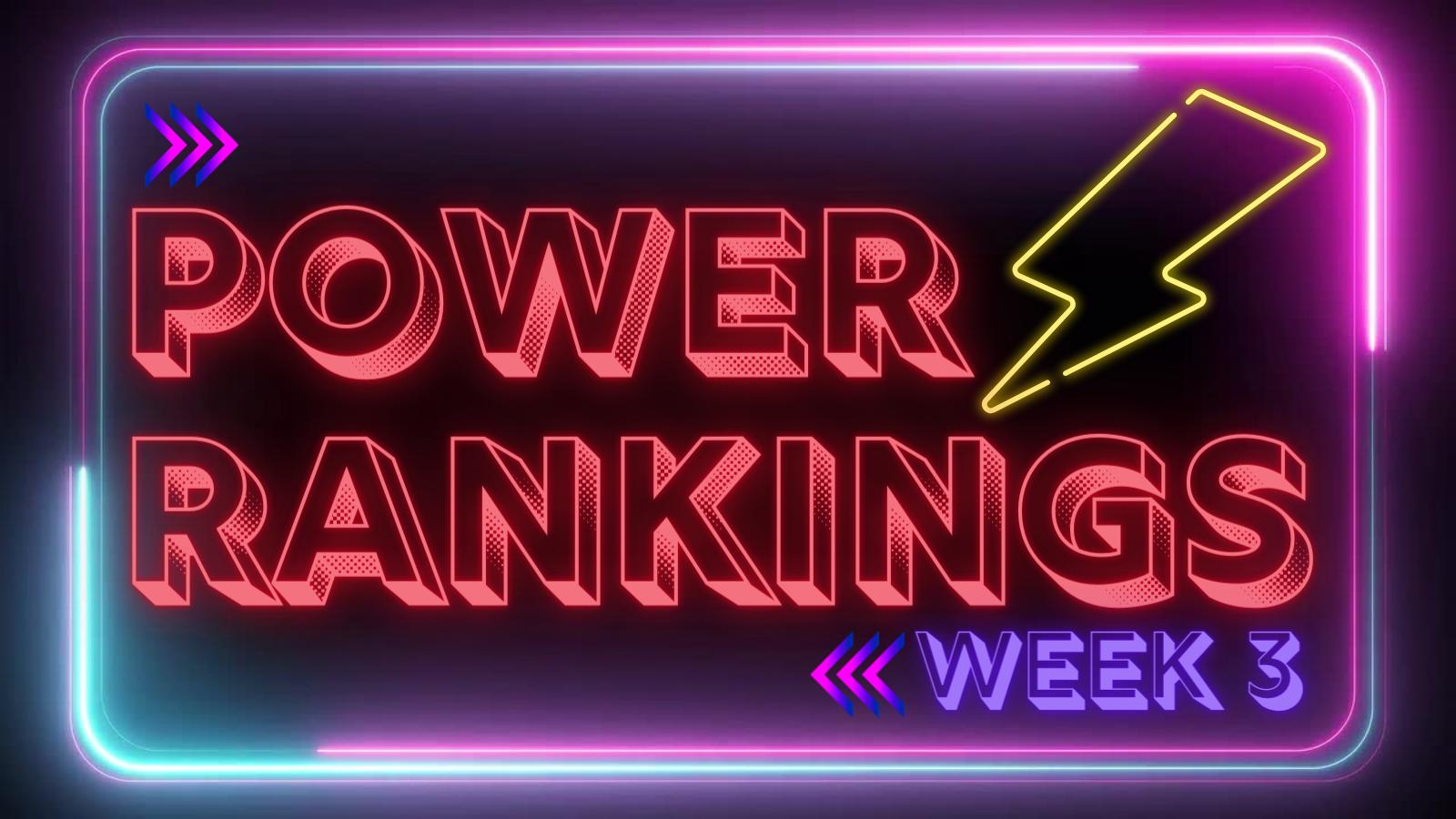 NFL Power Rankings – Week 3. Ravens Move Up.