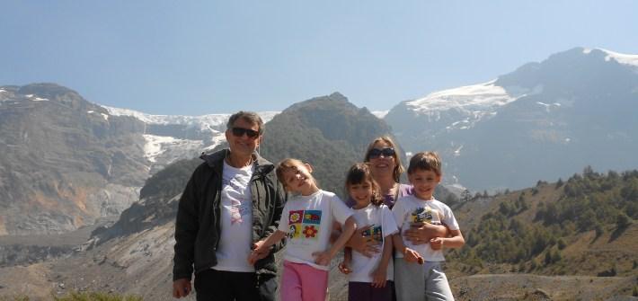 Cerro Tronador na Argentina com crianças