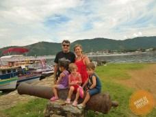 Centro Histórico de Paraty com crianças