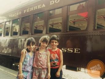 Passeio de Maria Fumaça em Bento Gonçalves com crianças