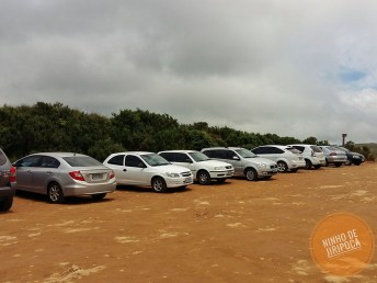 estacionamento do Canion Fortaleza com crianças