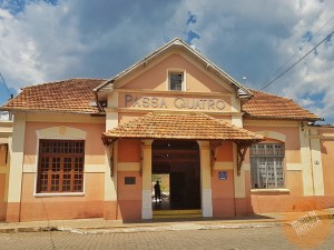 Fachada da Estação Ferroviária Central de Passa Quatro