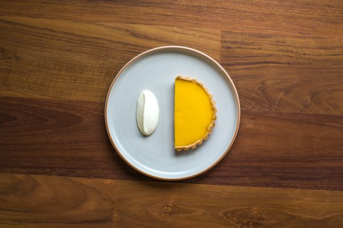 Passion Fruit Tart With Vanilla Cream