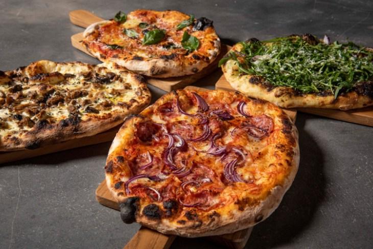 four pizzas