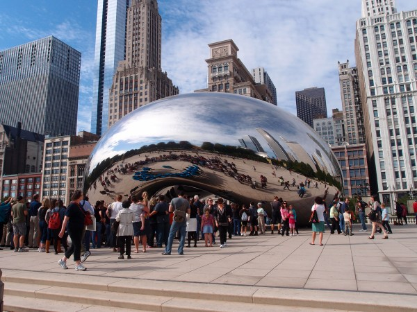 In Mood Of Chicago # 2 Cloud Gate Wow-sculpture