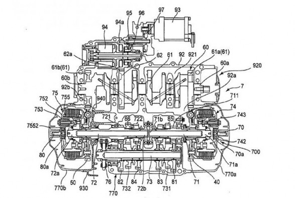 Yamaha Twin Clutch Gearbox Schematic
