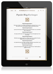 The Wedding Planner EBook Ring Exchanges