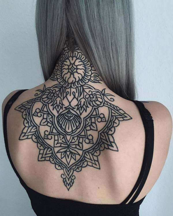 geometric tattoos ideas - ninja