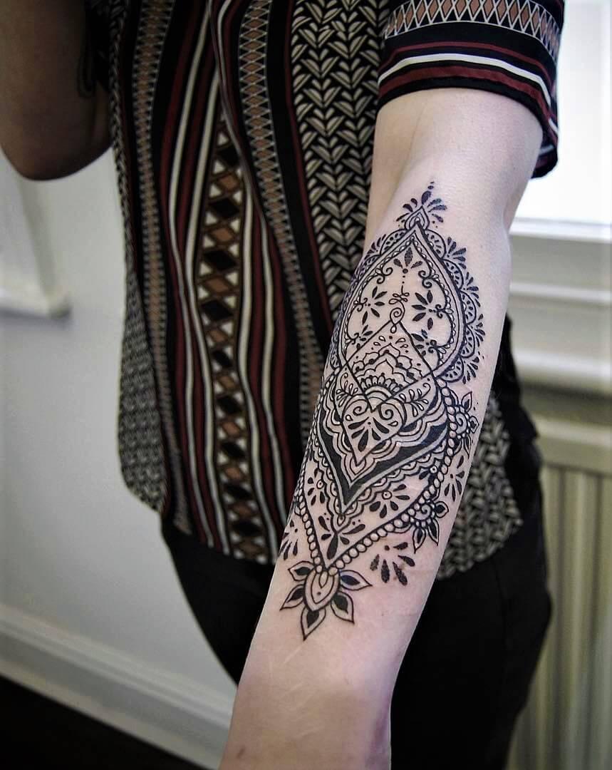 Lower Arm Half Sleeve Tattoos For Women
