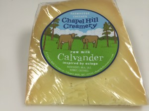 Calvander cheese from chapel hill creamery