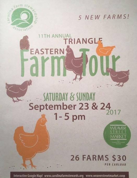 The CFSA farm tour 2017 brochure cover page