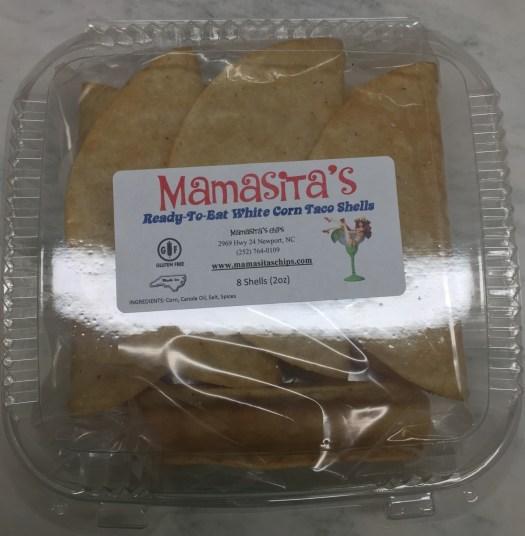 Mamasita's taco shells are $5.75 per box