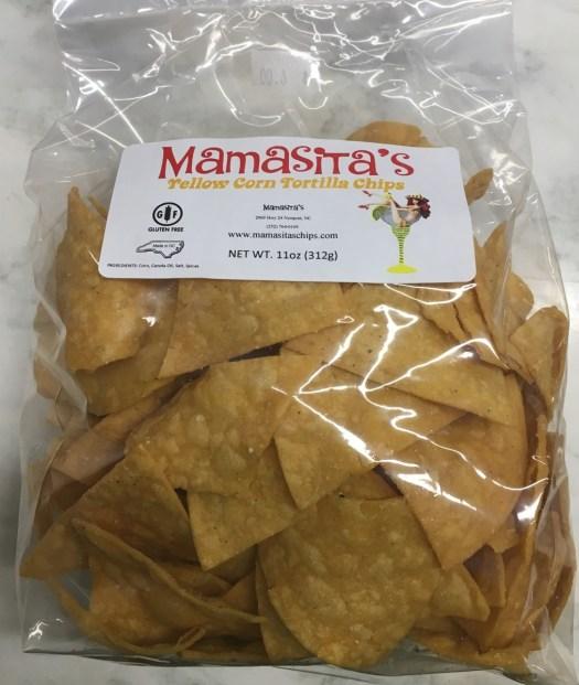 Mamasita's yellow corn chips, $6.00 per bag.
