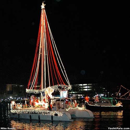 Christmas on a sailboat