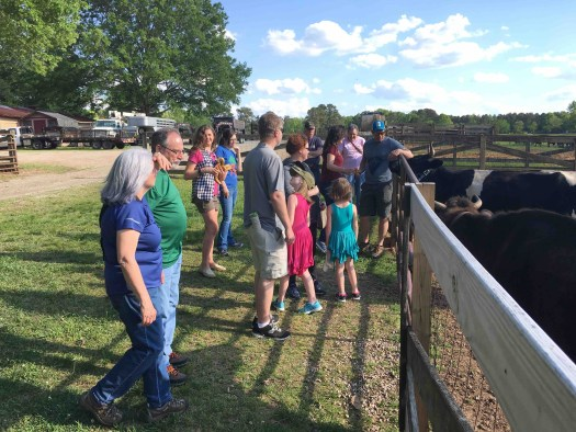 The Princess, giving one of her tours during the CFSA farm tour