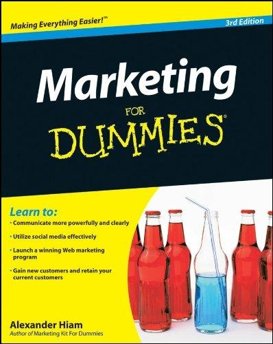 marketing for dummies front cover
