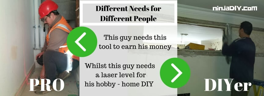 how to choose a laser level based on your purpose for using it