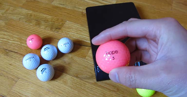 Color of the Numbers on the Golf Balls