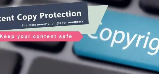 wp content copy protector