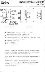 Xelex xm-201 Datasheet Page 1