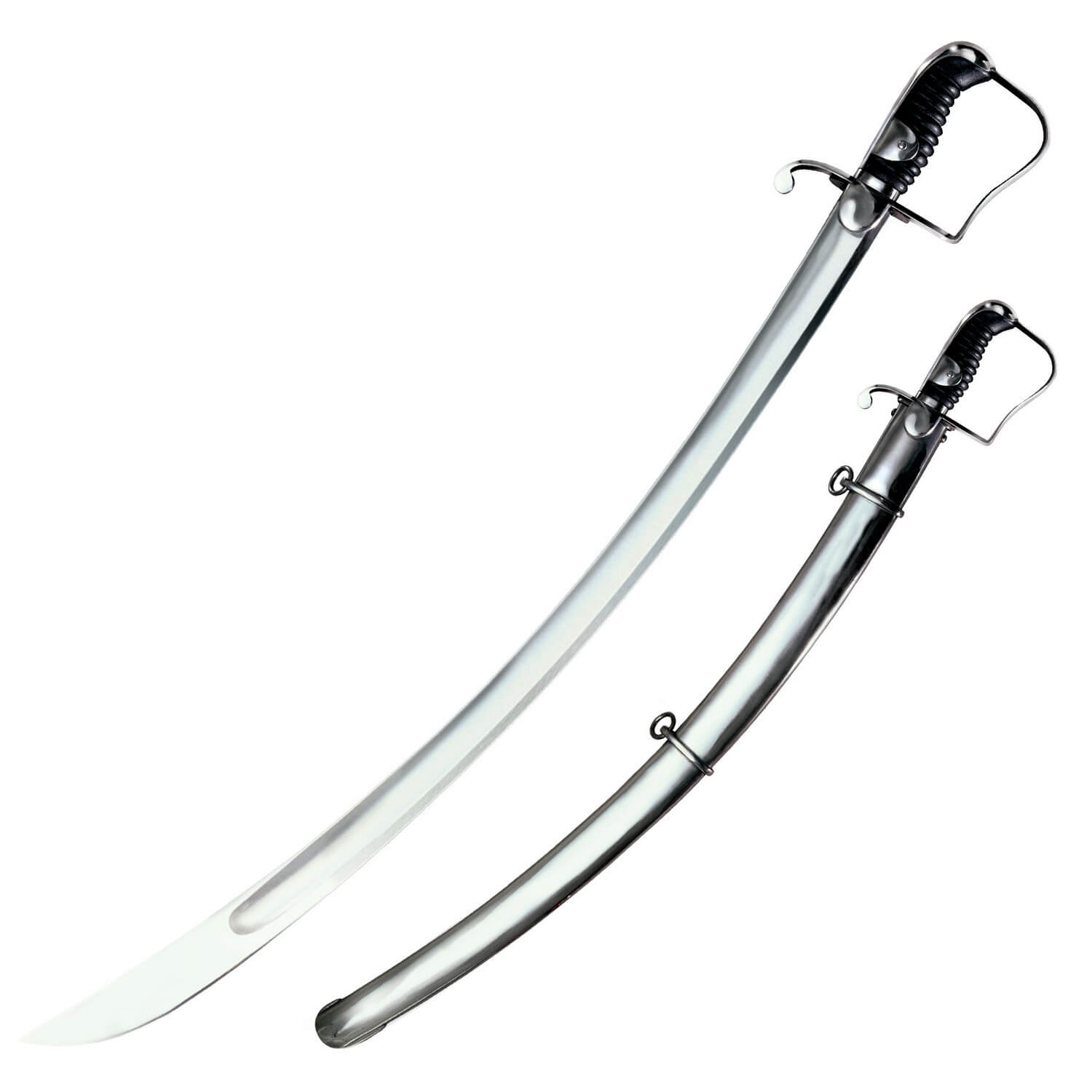 Cold Steel Sabre With Steel Scabbard Sword