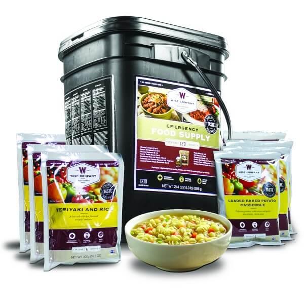120 Serving - Entree Only Grab n Go Bucket - Emergency Food Storage