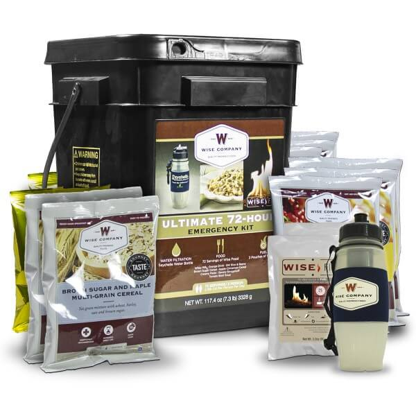 Wise - Ultimate 72 Hour Emergency Kit for 2 (Food, Water Filter, Fire Starter) - FSU72