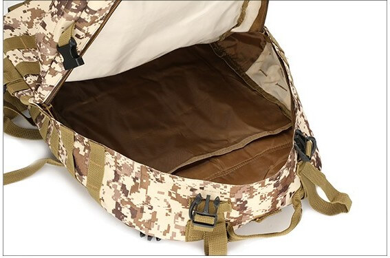 50L Mil-Spec MOLLE Backpack - MB003 - Interior Compartment Detail
