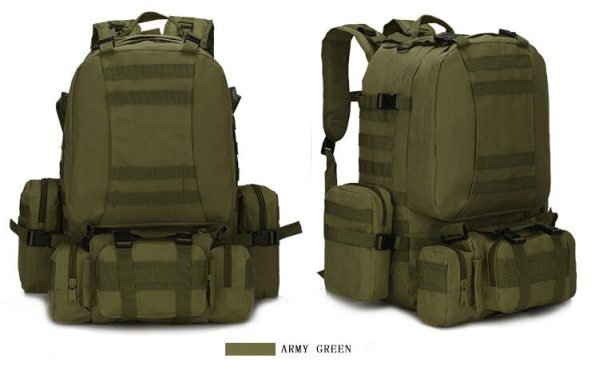 50L Mil-Spec MOLLE Backpack - MB003 - Army Green