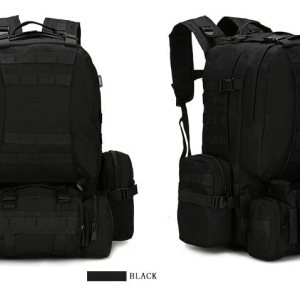 50L Mil-Spec MOLLE Backpack - MB003 - Black