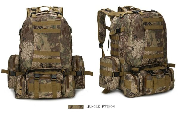 50L Mil-Spec MOLLE Backpack - MB003 - Jungle Python