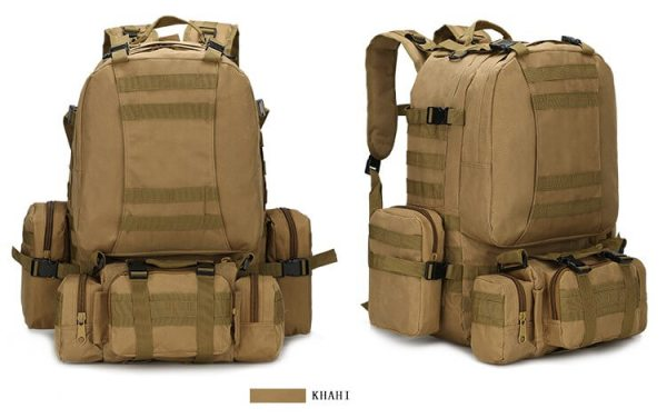 50L Mil-Spec MOLLE Backpack - MB003 - Khaki