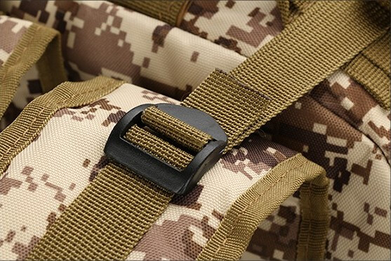 50L Mil-Spec MOLLE Backpack - Fastening Strap Detail