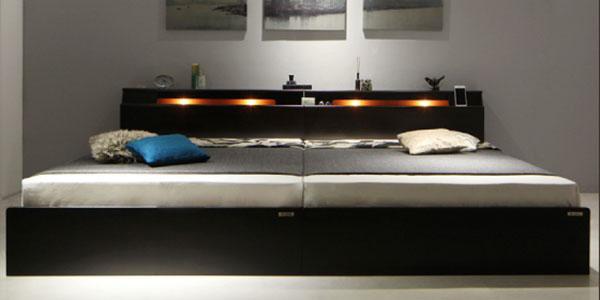 Wispend 二灯照明付きベッド