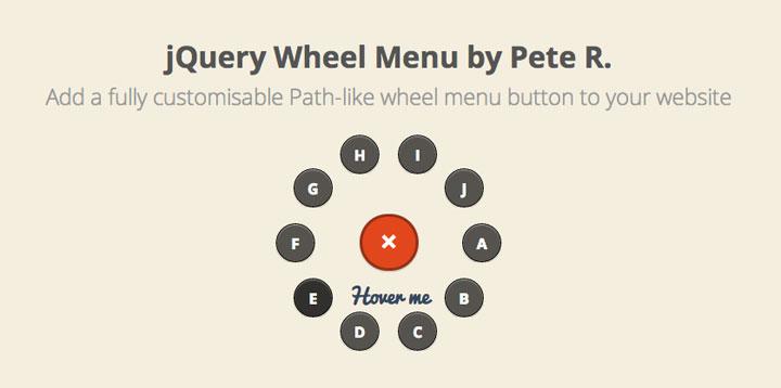 wheel-menu-jquery-plugin