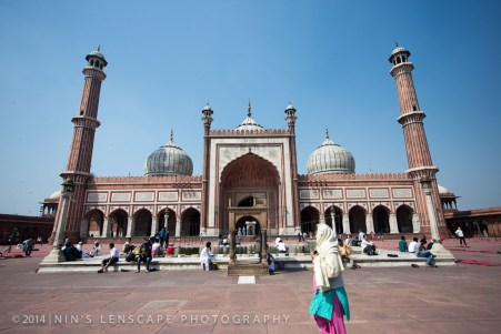 Jama Masjid - The Grand Mosque of Delhi, despite it's Hindu population which is the majority of the area