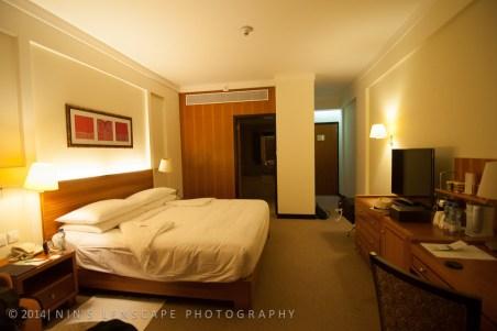 Our hotel room in Shangri La Hotel in Oman