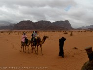 Early start for our camel trail in Wadi Rum