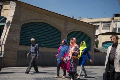 Colourful hijab
