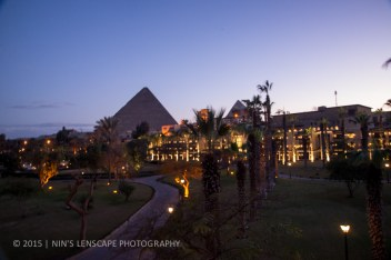 Our hotel with the Pyramids as a background