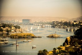 Aswan, the city where they built the dam a bit poluted but picturesque
