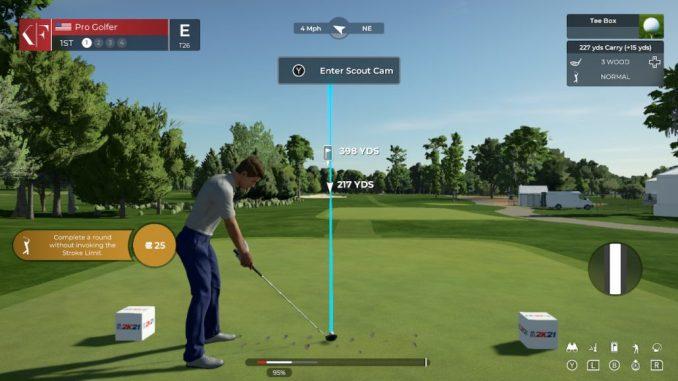 controls for PGA Tour 2K21