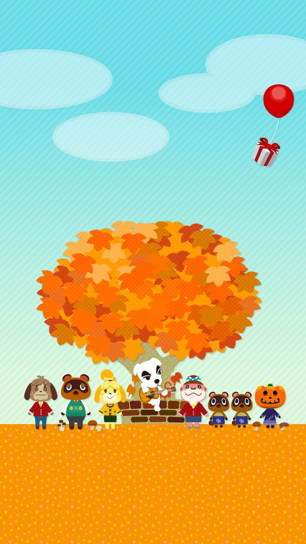 Animal Crossing Iphone Wallpaper Animal Crossing Mobile Backgrounds Available On Nintendo S