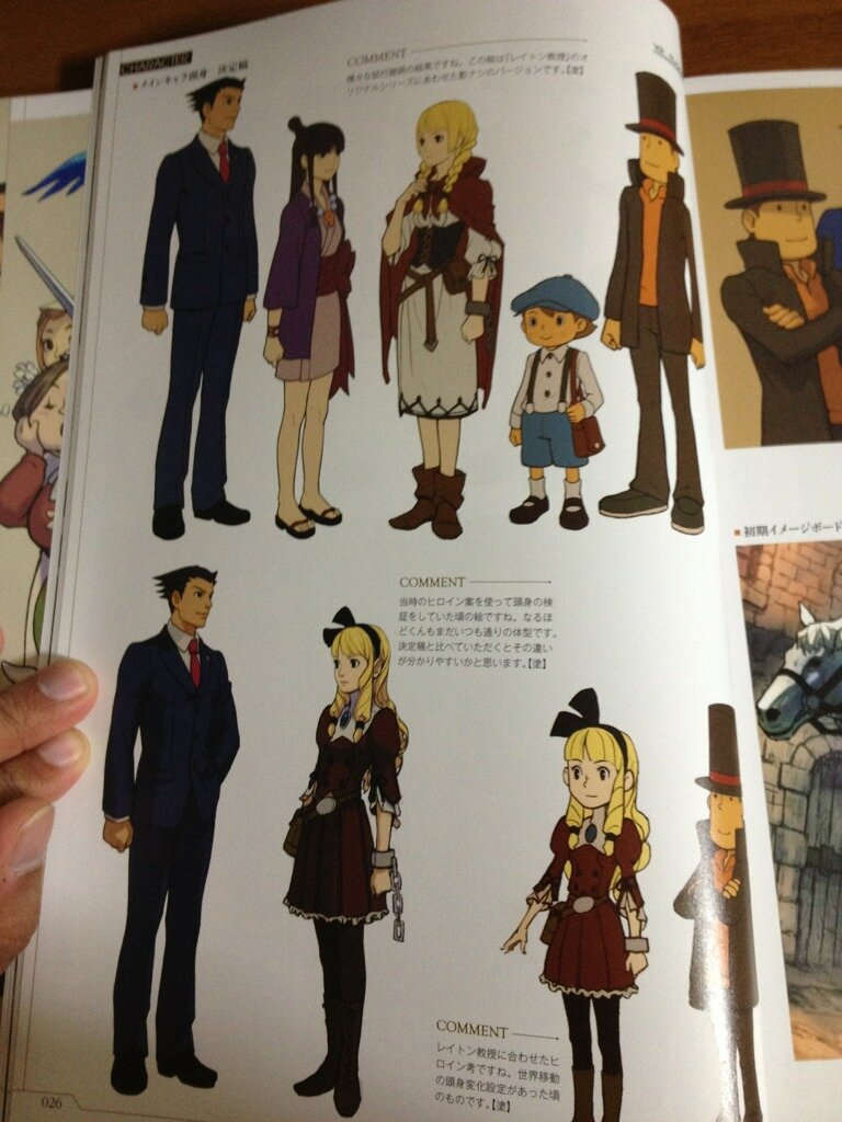 Lots Of Neat Professor Layton Vs Ace Attorney Art Including Dark Layton Nintendo Everything