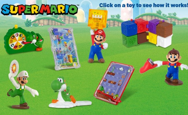 New Wave Of Super Mario Toys Available From Mcdonald S